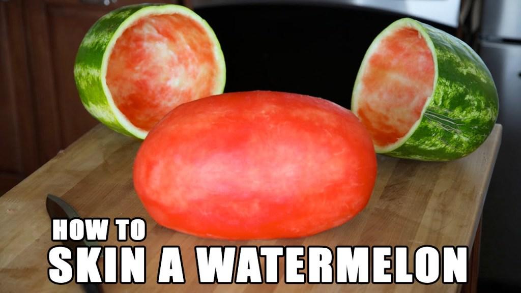How to Create an Impressive Skinned Watermelon