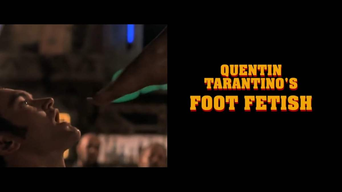 Quentin tarentino foot fetish guy's dick