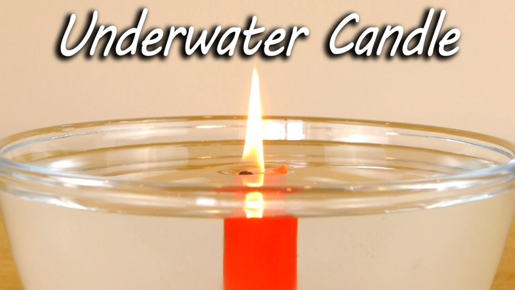 How to Easily Burn a Wax Candle Underwater