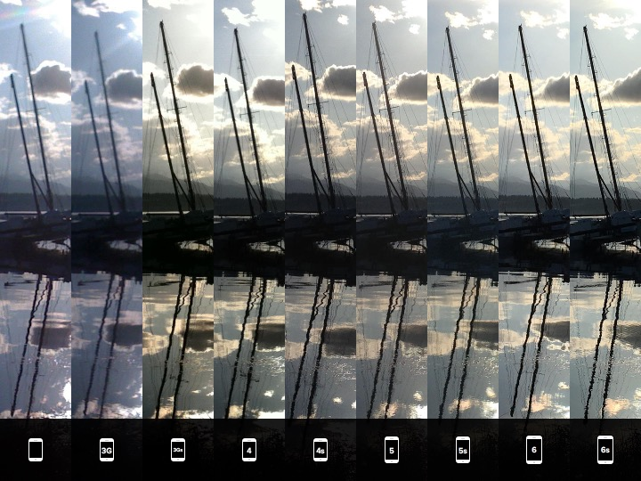 iphone 6s comparison backlit sailboats