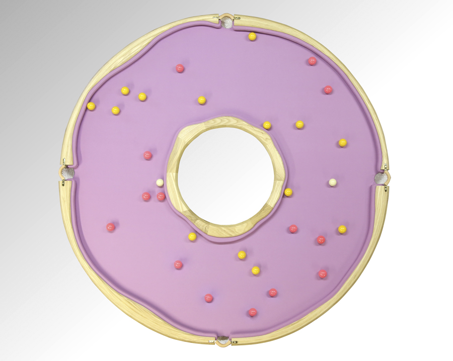Uniquely Creative Handmade Pool Tables That Are Shaped Like A Pink Doughnut  And A Banana