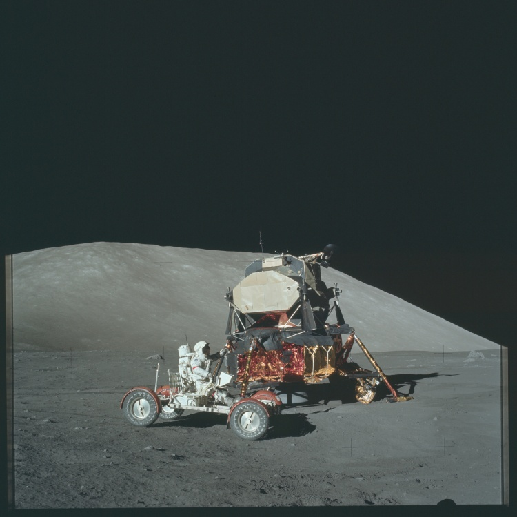 Apollo 17 Lunar Rover and Lander