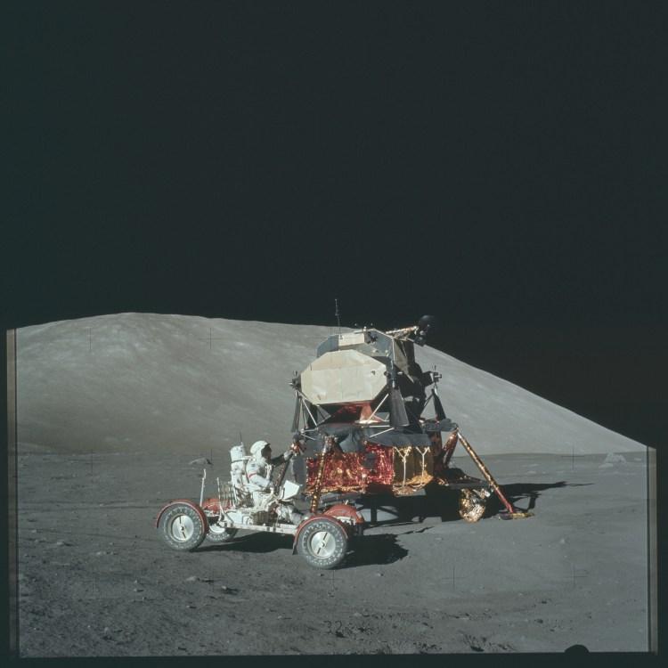 Apollo 17 Lunar Rover and Lander