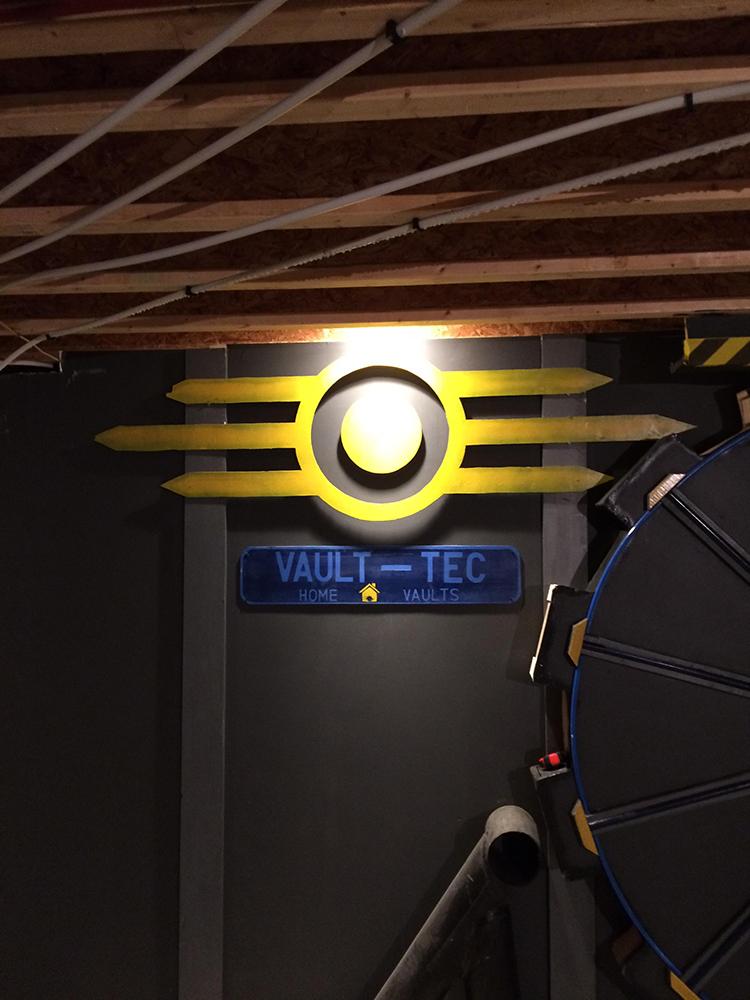 Fallout Vault Door man builds a functional 'fallout' 404 vault door for his basement