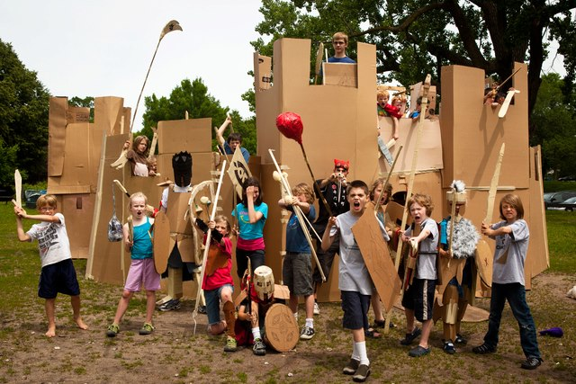 Adventures in Cardboard castle