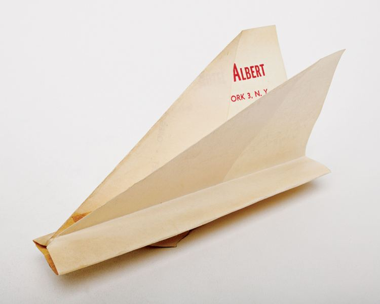 Harry Smith paper airplane collection