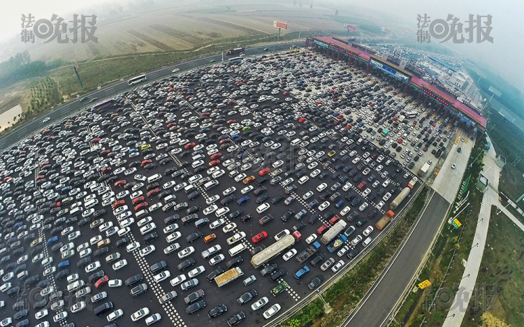Beijing Traffic Jam Ariel 1