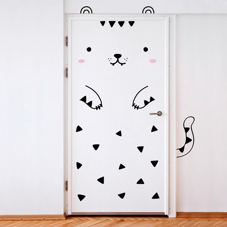 Cute Decals That Transform Any Door Into an Adorable Animal or Dragon