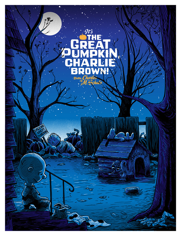 It\'s the Great Pumpkin, Charlie Brown\' Halloween Art Prints by Tim ...
