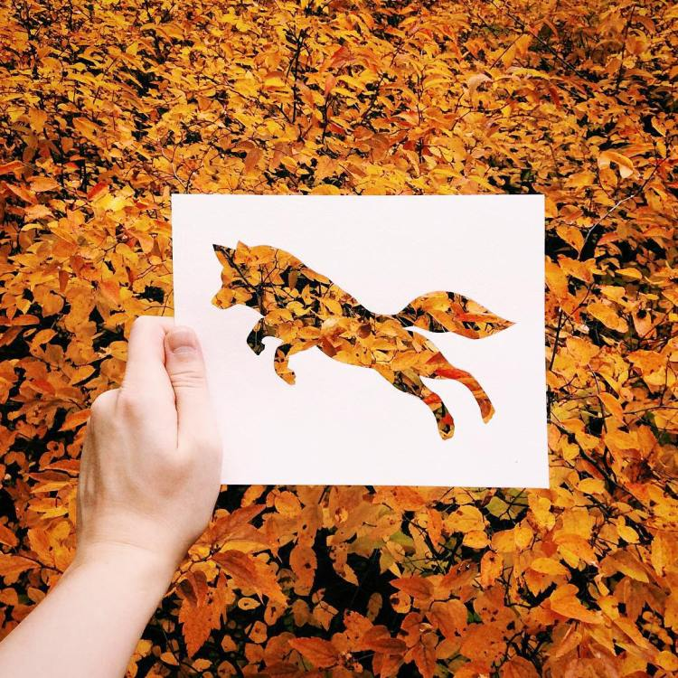paper animal cutouts that come to life while posed against a
