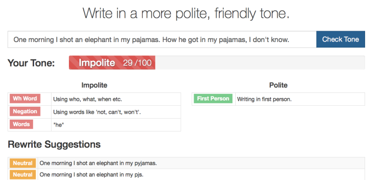 FoxType elephant in my pajamas