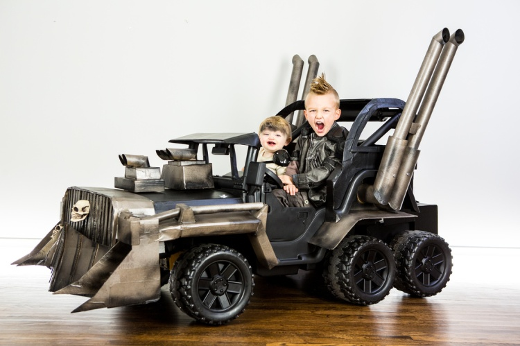 Kids Riding Mad Max War Rig