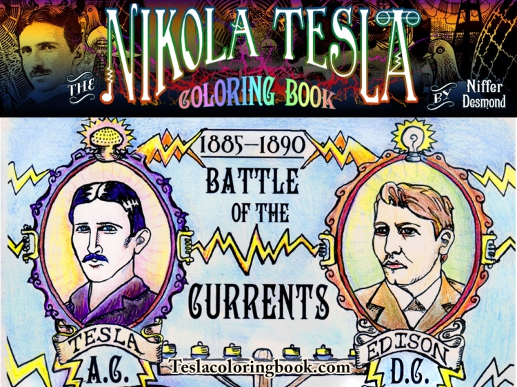 Nikola Tesla Coloring Book A Creative Way To Expend Ones Current Energy In Honor Of The Brilliant Engineer