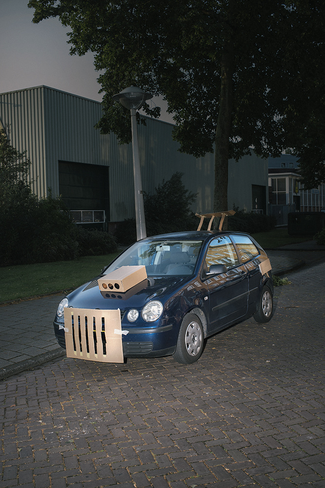 Prankster Artist Customizes Random Strangers' Cars Around Amsterdam Using Cardboard
