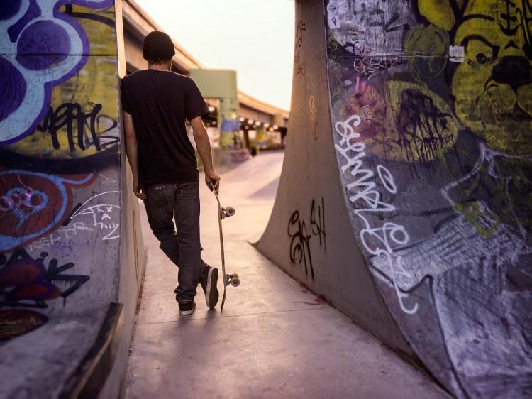 Skateboarder photo taken with Light camera