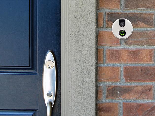 Skybell next to door