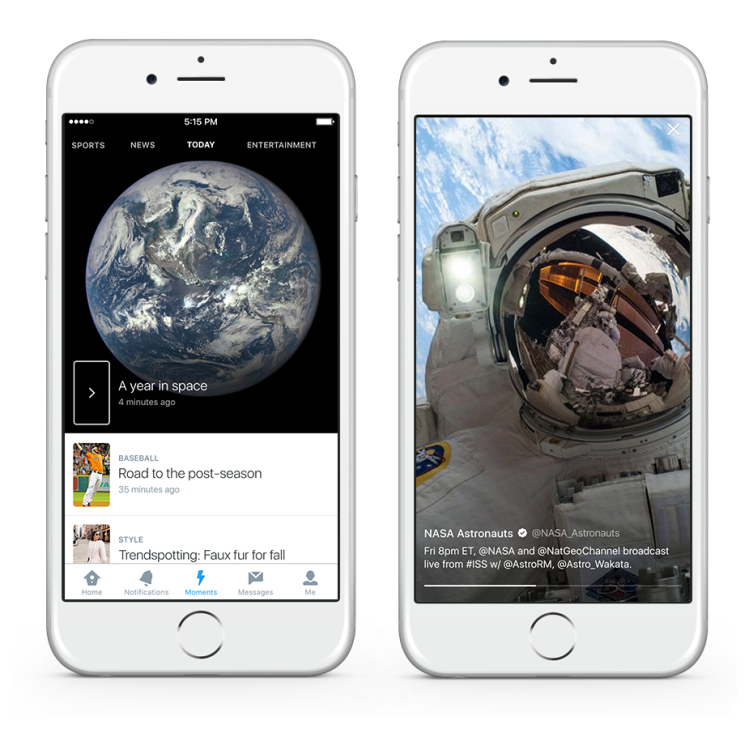 Twitter Moments Year in Space