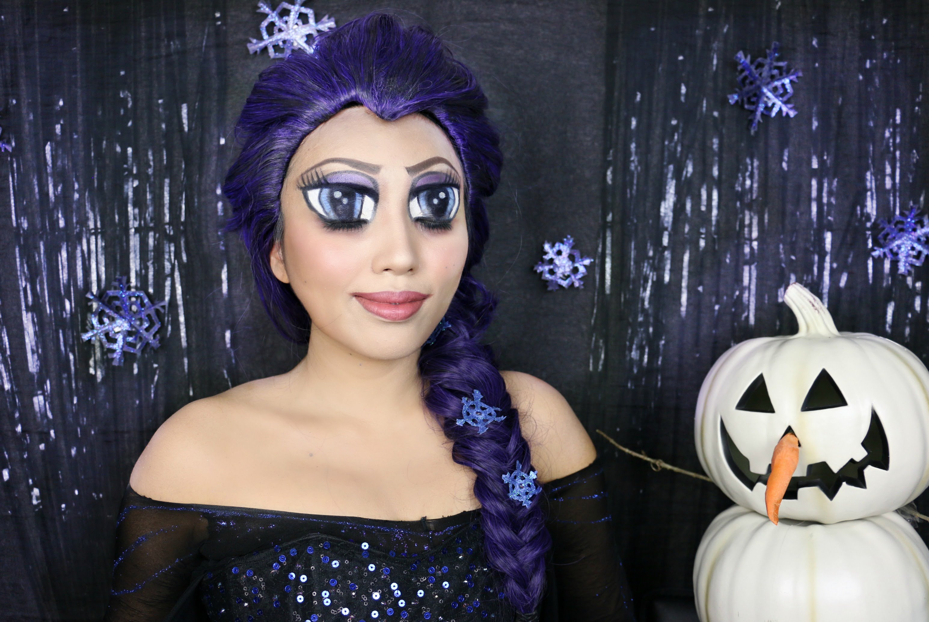 A tutorial showing how to make anime big eyes using makeup to look a tutorial showing how to make anime big eyes using makeup to look like elsa from frozen baditri Choice Image