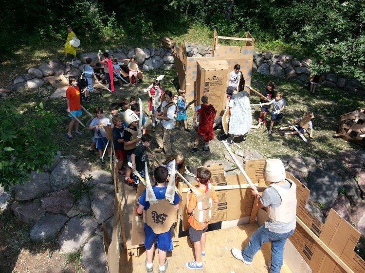 Adventures in Cardboard battle scene
