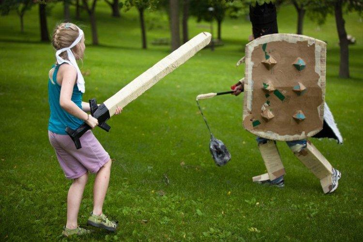 Adventures in Cardboard giant sword