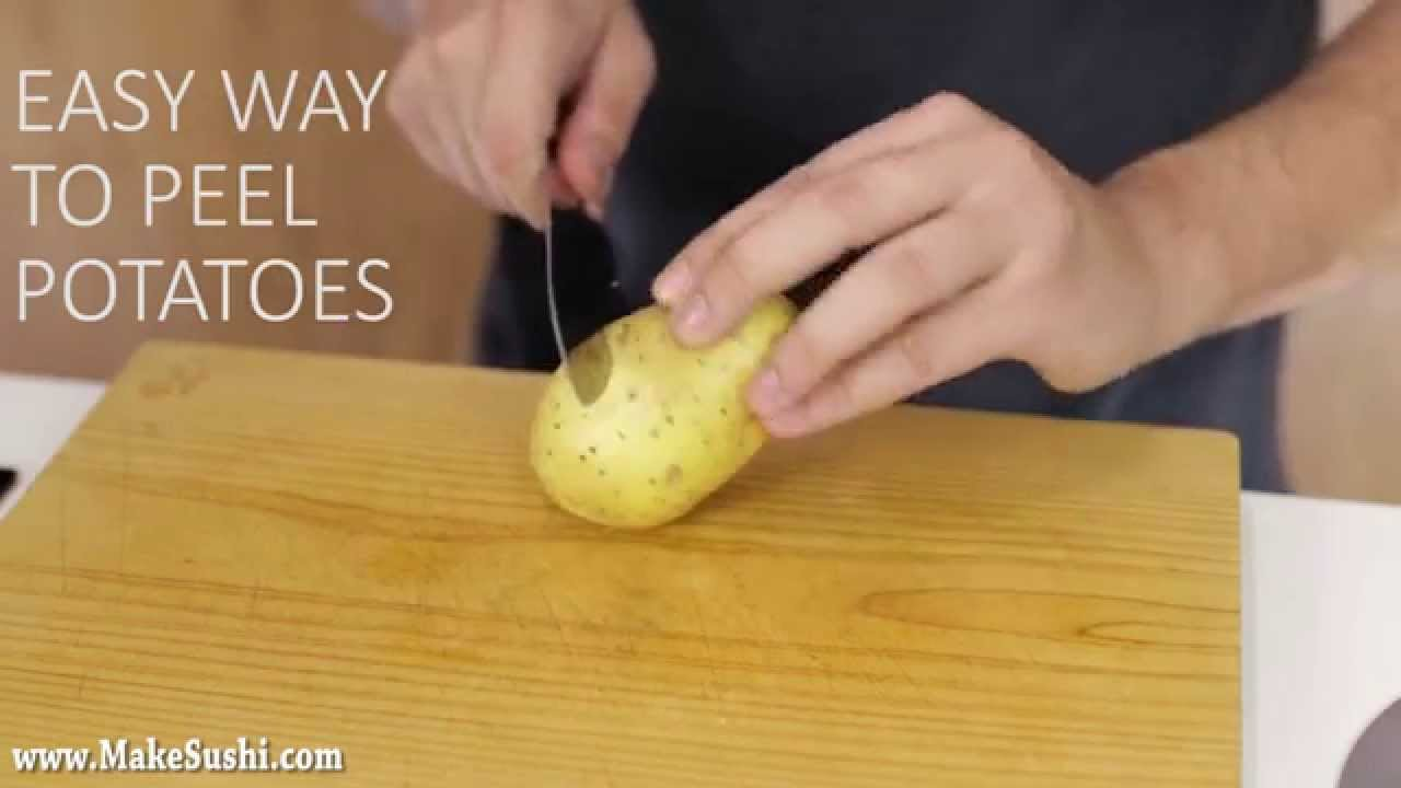 An Incredibly Clever Way to Easily Peel Potatoes