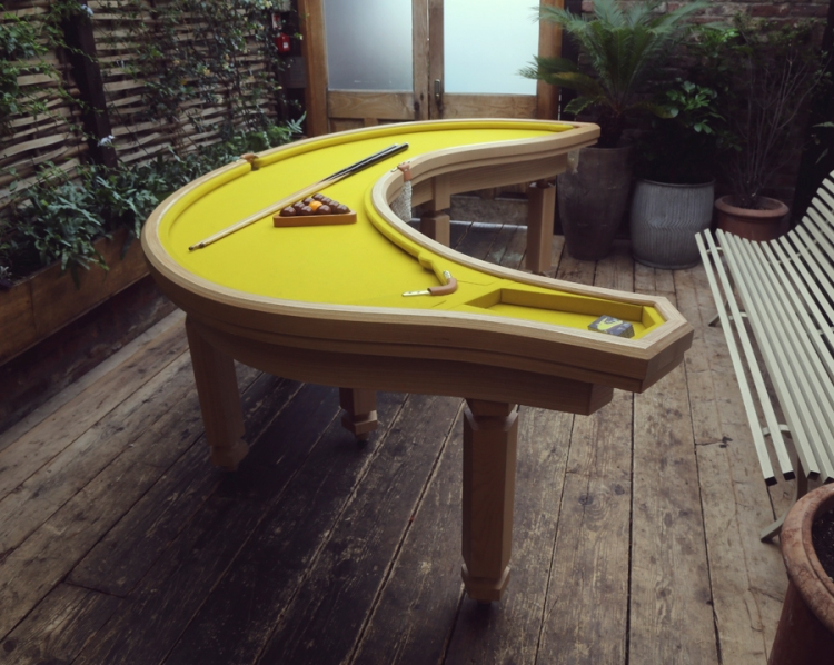 Uniquely Creative Handmade Pool Tables That Are Shaped Like A Pink - Handmade pool table