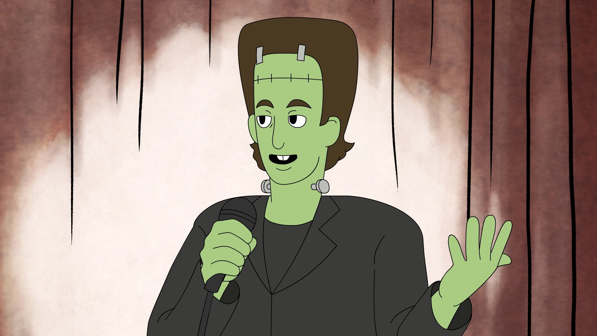 'Frankensteinfeld', An Animated Mashup of 'Seinfeld' and 'Frankenstein' About the Classic Monster Performing Stand-Up