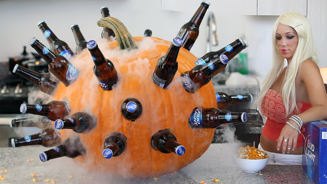 halloween pumpkin cooler a simple but memorable way to serve up bottled beer