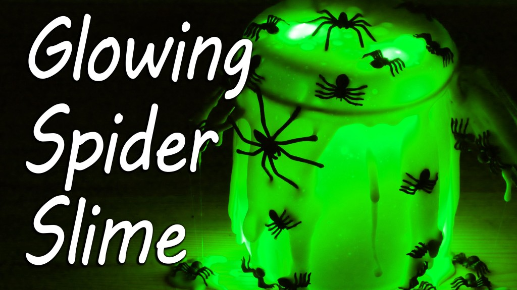 How to Make Glow in the Dark Spider Slime for Halloween Out of Household Ingredients