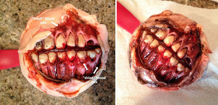 Zombie Mouth Cupcake by SemadarG