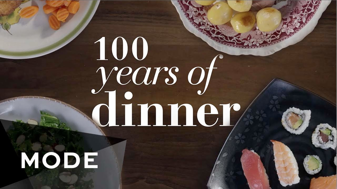 100 Years of American Dinner Trends Shown Decade by Decade in a