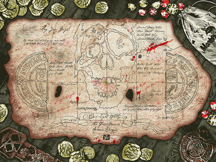 Booty Trap Treasure Map by Anthony Petrie