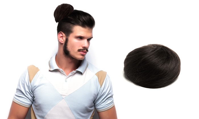 Black Clip On Man Bun