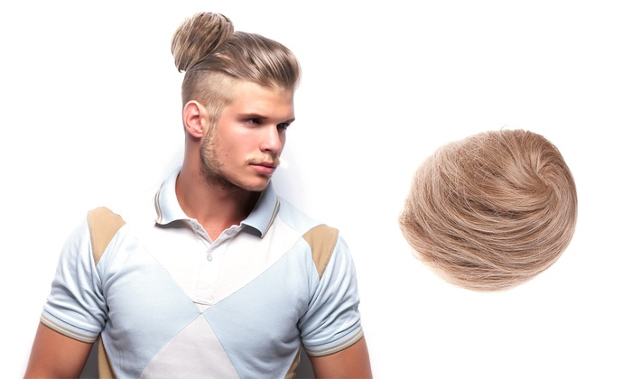 Blond Clip On Man Bun