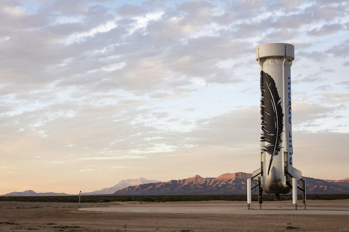 Blue Origin New Shepherd Rocket After Landing