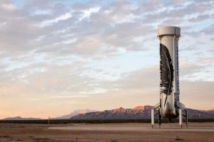 Blue Origin New Shepherd Rocket After Landing