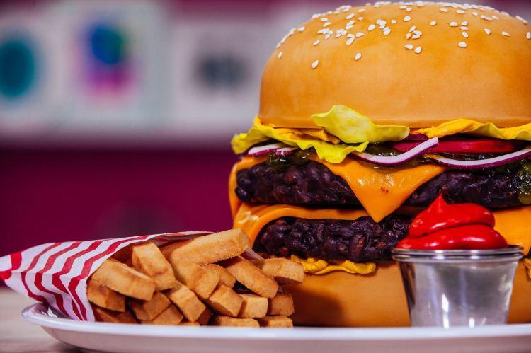 Burger Cake Fries