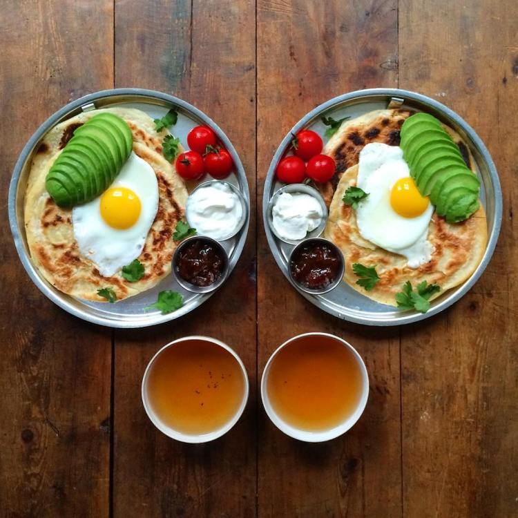 Eggs Avocado Paratha