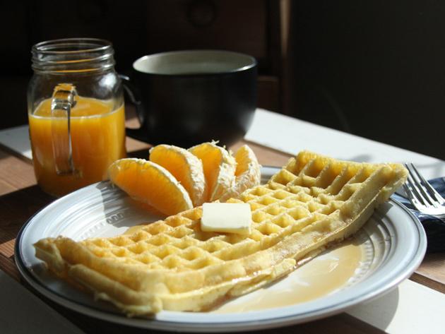Keyboard Waffle Complete Breakfast