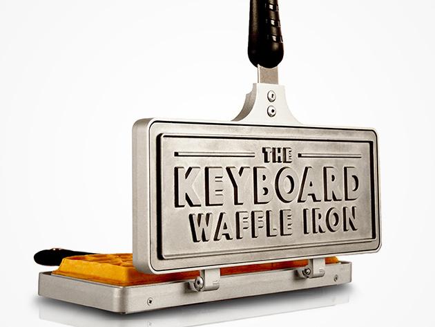 Keyboard Waffle Iron Logo