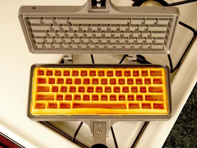 Keyboard Waffle Iron Overhead