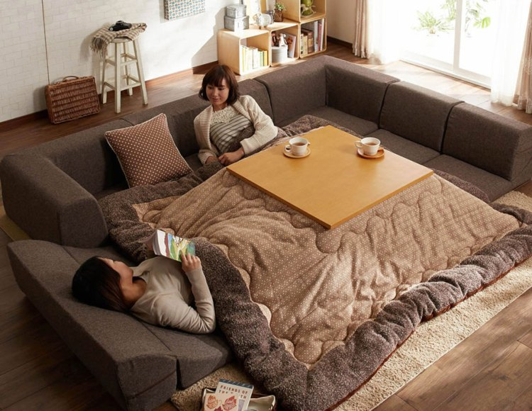 Kotatsu A Traditional Japanese Floor Sofa Made Modern With