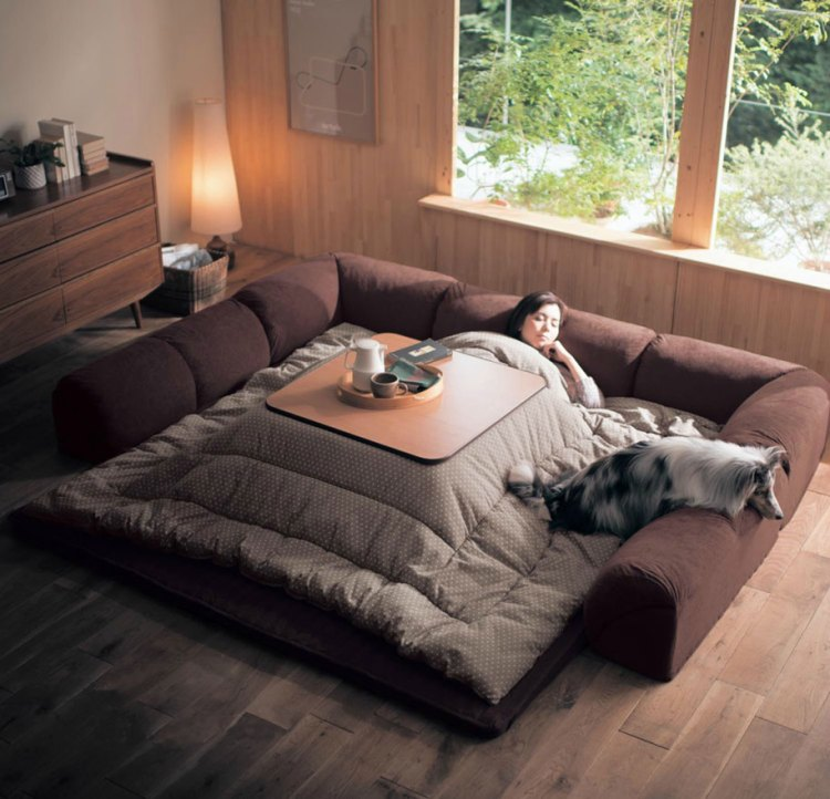 Kotatsu A Traditional Japanese Floor Sofa Made Modern