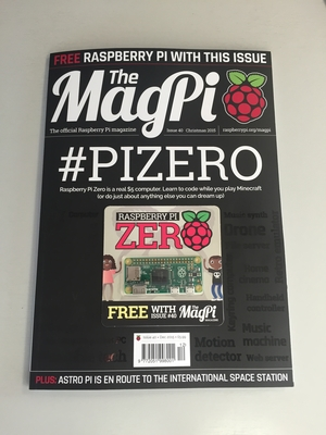 MagPi Magazine With Pi Zero