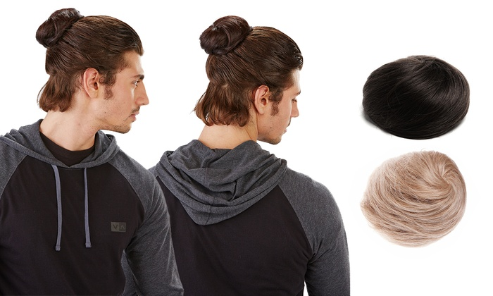 The Clip In Man Bun Gives Men an Instant Bun Without the Commitment of Growing Out Long Hair