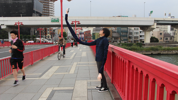 Selfie Arm in Use
