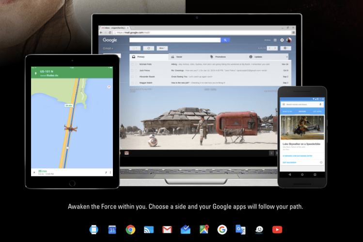 Star Wars Features on Google Apps