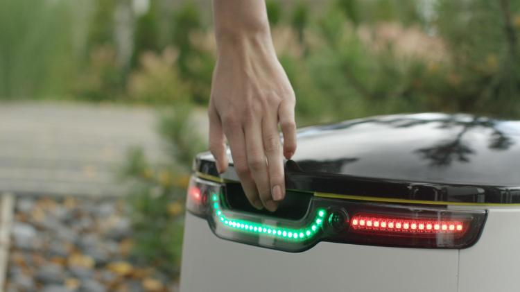 Starship Technologies Delivery Robot Opening Hand