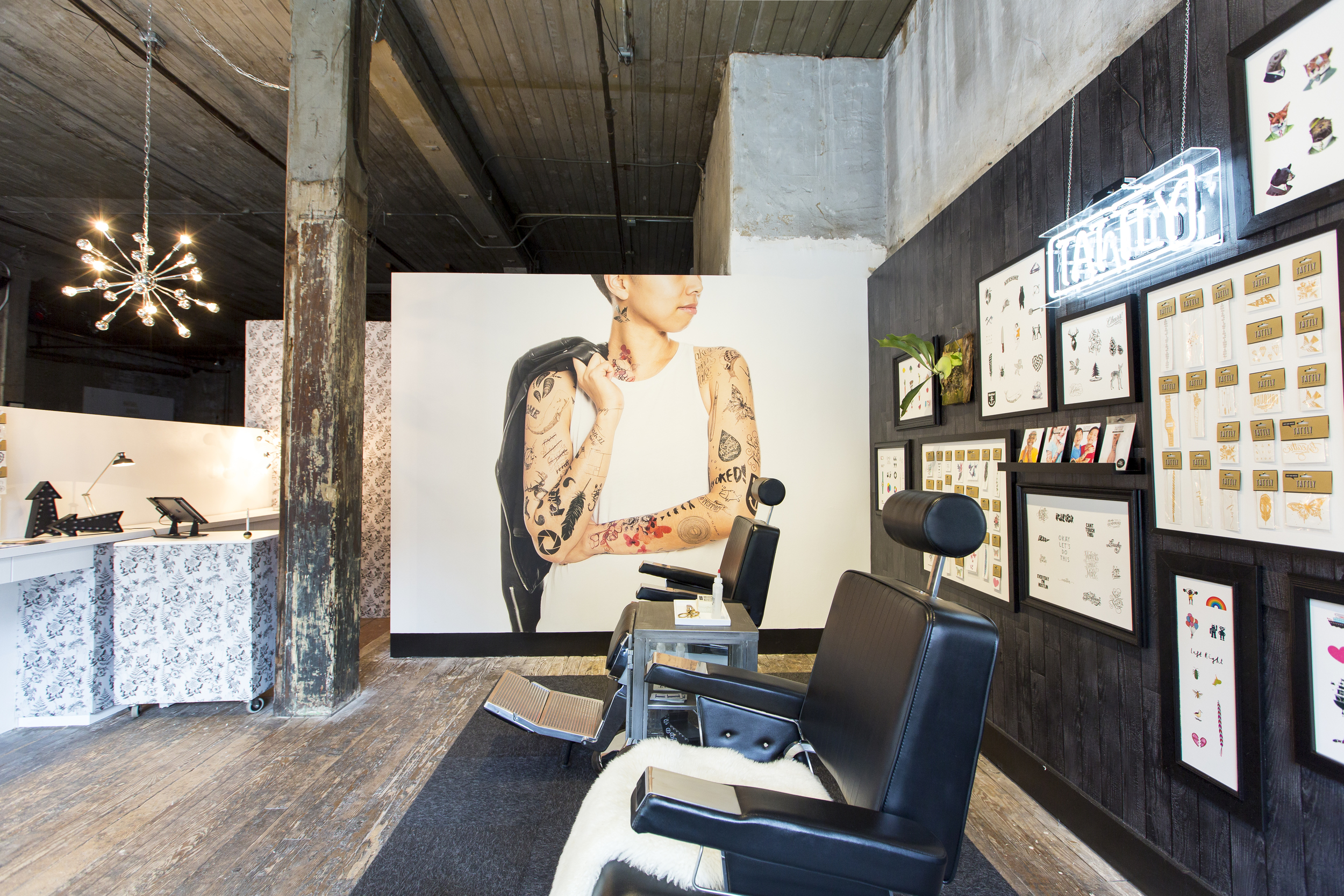 a full service tattly temporary tattoo parlor opens in