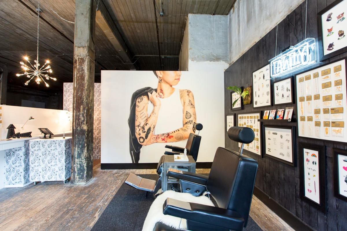 A full service tattly temporary tattoo parlor opens in for Henna tattoo shop
